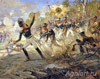 Feat Rajewski soldiers of Saltanovka. Art print on canvas