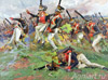 Leib-Guard Lithuanian Regiment in the Battle of Borodino. Sketch. Art print on canvas