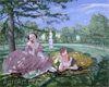Somov Konstantin. Two Ladies in the Park. Art print on canvas
