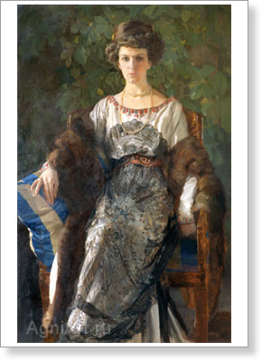 The Tretyakov Gallery. Somov Konstantin. Portrait of Euphimia Pavlovna Nosova. Art print on canvas