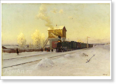 Kazantsev Vladimir. At the Way Station. Art print on canvas