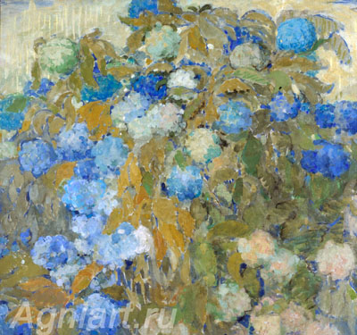 The Tretyakov Gallery. Sapunov Nikolay. Blue Hydrangea. Art print on canvas