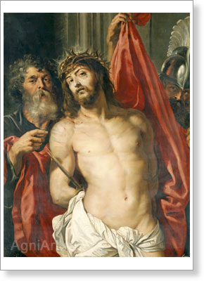 Rubens Pieter Paul. Christ Crowned with Thorns. Fine art postcard A6