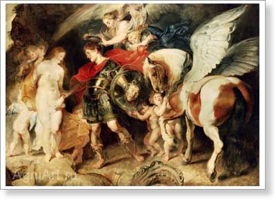 Rubens Pieter Paul. Perseus and Andromeda. Art print on canvas