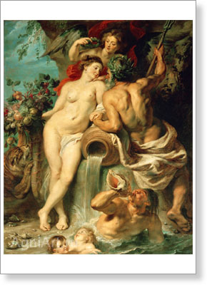 Rubens Pieter Paul. The Union of Earth and Water. Fine art postcard A6