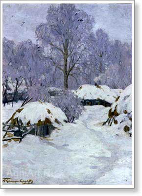 Goriushkin-Sorokopudov Ivan. Winter. Art print on canvas