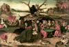 Bosch Hieronymus. Temptation of St. Anthony. Art print on canvas