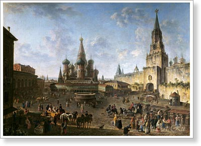 Alexeyev Fyodor. Red Square in Moscow. Art print on canvas