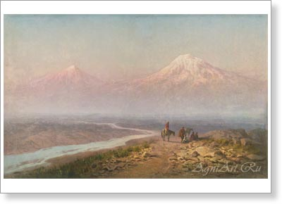 Zankovsky Ilya. In the Caucasus -- Ararat. Art print on canvas  - paintings, sale of paintings