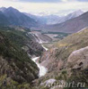 Photo-landscapes: Nature. Altai. The Argut River. The Karagem Breakup. Fine art postcard 10x10 cm
