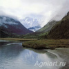Photo-landscapes: Nature. Altai. Mount Belukha from the North. Fine art postcard 10x10 cm