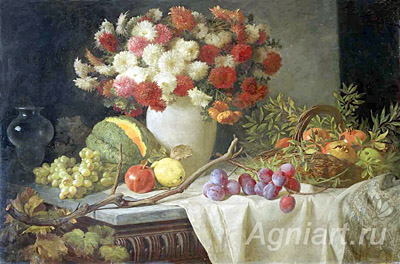 Sverchkov Vladimir. Flowers and Fruit. Art print on canvas