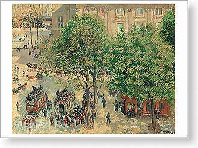 Pissarro Camille. Place du Theatre-Franзais. Art print on canvas. Art print on canvas