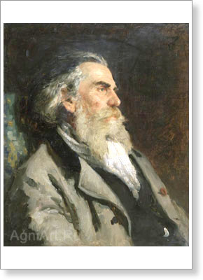 Repin Ilya. A.P. Bogolyubov. Art print on canvas