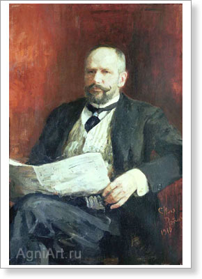 Repin Ilya. Portrait of P.A. Stolypin. Art print on canvas
