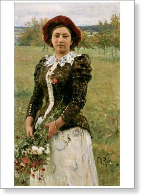 Repin Ilya. Autumn Bouquet. Art print on canvas