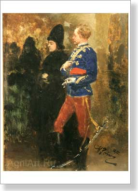 Repin Ilya. Temptation. Art print on canvas