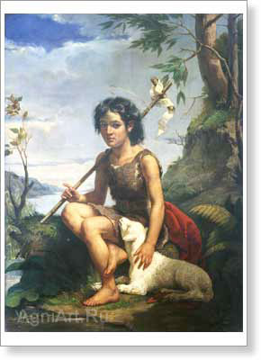 St. John the Baptist. Art print on canvas