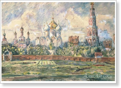 Lentulov Aristarkh. Novodevichy Convent. Art print on canvas - paintings, sale of paintings