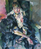 Lentulov Aristarkh. Actress Olga Vasilievna Gzovskaya. Art print on canvas