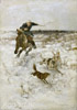 Voroshilov Sergey. Hunting with hounds. Art print on canvas
