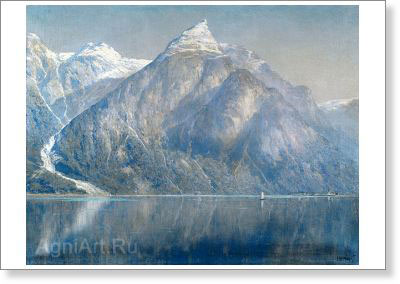 Kryzhitsky Konstantin. Norwegian Fiord. Art print on canvas