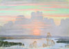 Smirnov-Rusetsky Boris. At Sunset. Art print on canvas