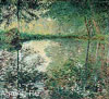 Monet Claude Oscar. Pond at Montgeron. Art print on canvas