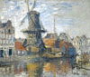 Monet Claude Oscar. The Windmill on the Onbekende Gracht, Amsterdam. Art print on canvas.