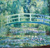 Monet Claude Oscar. Water Lilies and Japanese Bridge. Art print on canvas.