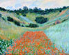 Monet Claude Oscar. Poppy Field in a Hollow near Giverny. Art print on canvas.