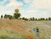 Monet Claude Oscar. Poppy Field. Art print on canvas.