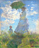 Monet Claude Oscar. Woman with a Parasol. Art print on canvas.