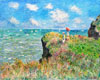 Monet Claude Oscar. Cliff Walk at Pourville. Art print on canvas.