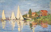 Monet Claude Oscar. Regattas at Argenteuil. Art print on canvas.