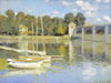Monet Claude Oscar. The Argenteuil Bridge. Art print on canvas.