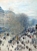 Monet Claude Oscar. Boulevard des Capucines. Art print on canvas.