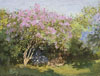 Monet Claude Oscar. Lilac in the sun. Art print on canvas