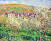 Print of picture: Monet Claude Oscar. Plum Trees in Blossom. Art print on canvas. (plakkard). Size 81x64.5 cm. Not framed