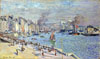 Monet Claude Oscar. Port of Le Havre. Art print on canvas.