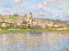 Monet Claude Oscar. Vétheuil. Art print on canvas.