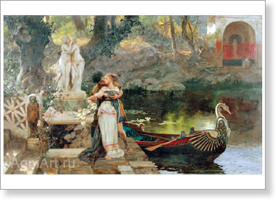 Siemiradzki Henryk. By Example of the Gods. Fine art postcard A6