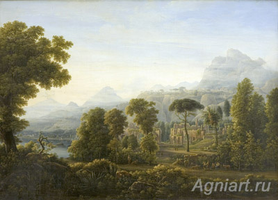 Matveyev Fyodor. View of Sicily. The mountains. Art print on canvas