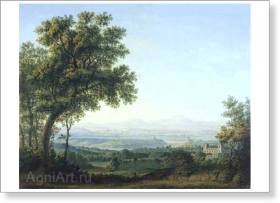 Matveyev Fyodor. View of the Roman Campagna. Art print on canvas