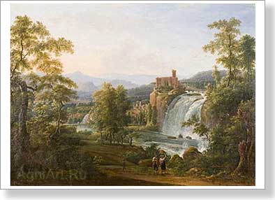 Matveyev Fyodor. Waterfall. Art print on canvas