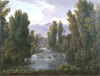 Matveyev Fyodor. Landscape with a Waterfalls. Art print on canvas