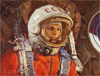 Plotnov Andrey. YURY A. GAGARIN. Art print on canvas