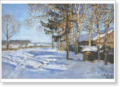 Zhukovsky Stanislav. Toward Spring. Art print on canvas - paintings, sale