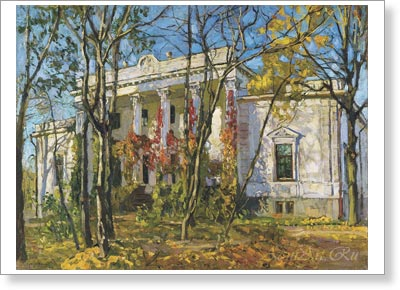 Zhukovsky Stanislav. Prince's House in Autumn. Art print on canvas  - paintings, sale of paintings