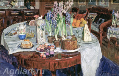 Zhukovsky Stanislav. Easter Still Life. Art print on canvas